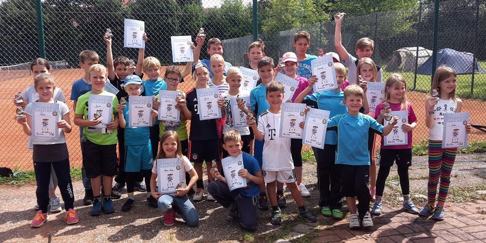Ein großer Spaß mit positivem Beigeschmack: Das Kids-Tenniscamp 2017 des SV Dörfleins