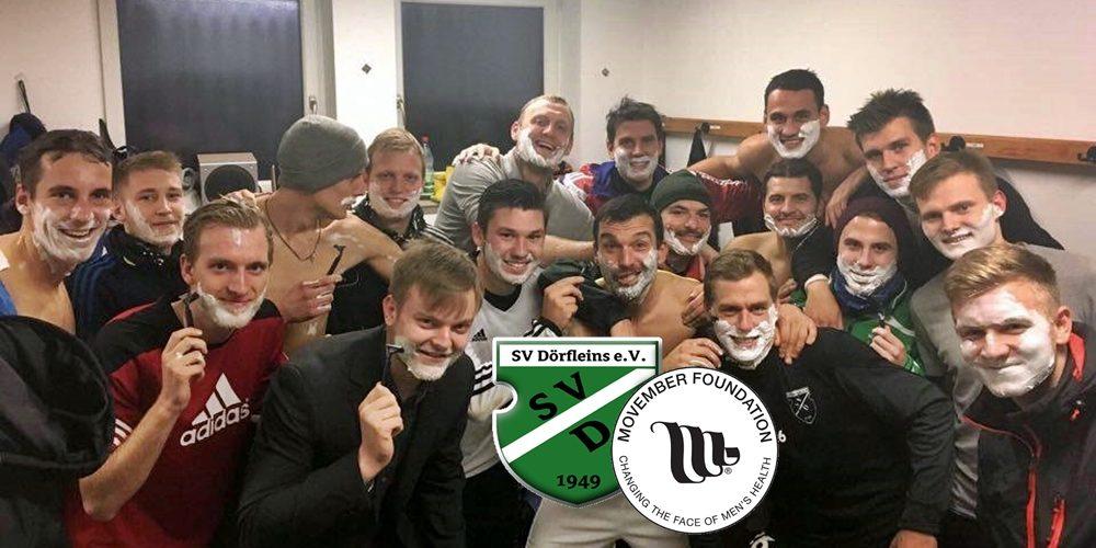 """Grow a mo, save a bro!"" – SV Dörfleins unterstüzt Movember Foundation Germany"